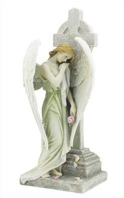 Veronese Angel and Celtic Cross (30cm)