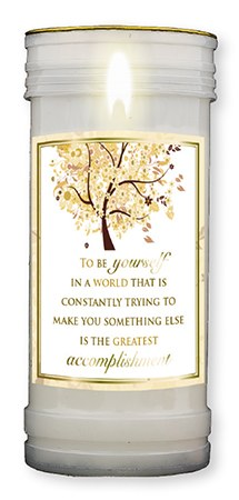 To Be Yourself Pillar Candle