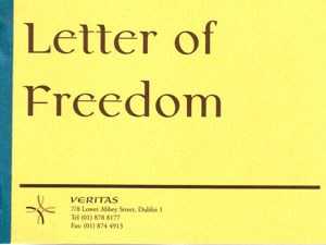 Letter of Freedom Certificates