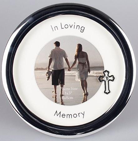 In Loving Memory Round Silver Photoframe