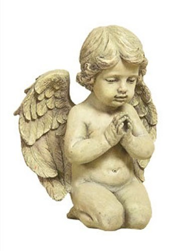Resin Sitting Angel Grave Statue (24cm)