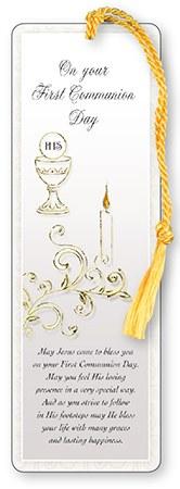 Symbolic First Holy Communion Bookmark