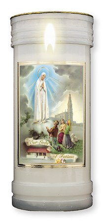 Our Lady of Fatima Pillar Candle