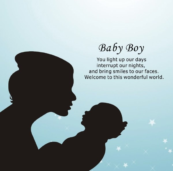 Baby Boy Reflections of the Heart Frame