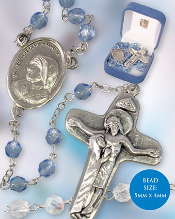 Blue Rosary Beads of Mother Teresa
