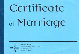 Book of Marriage Certificates