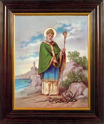 Saint Patrick Framed Print (30 x 25cm)