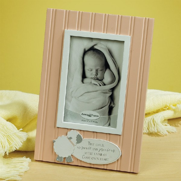 Photo Frame-Little Lamb-Pink Holds 4 x 6 Photo