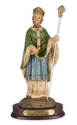 St Patrick Resin Statue (21cm)