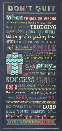 Don't Quit Prayer Plaque
