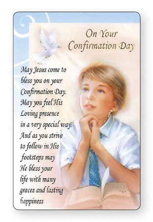 Boy Confirmation Prayer Card