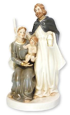 Glazed Porcelain Holy Family Nativity