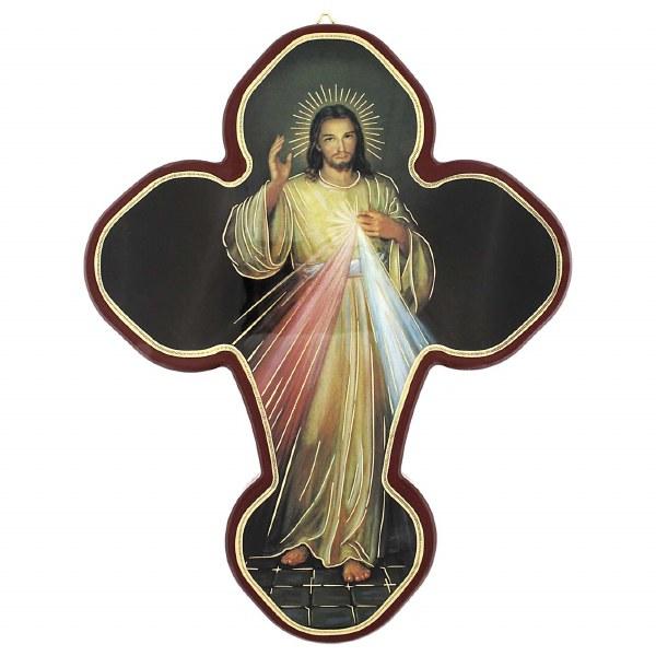 Divine Mercy Icon Crucifix (25 x 19cm)
