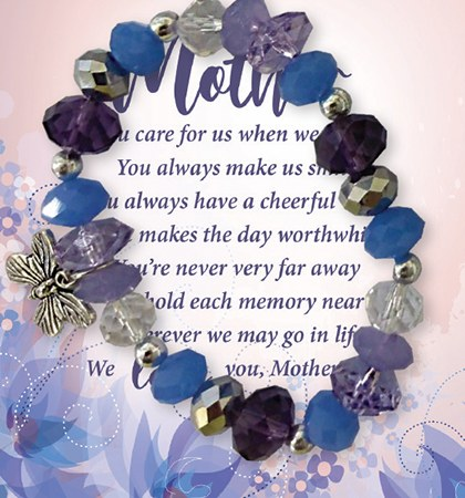 64593 Mother Glass Bracelet with Card
