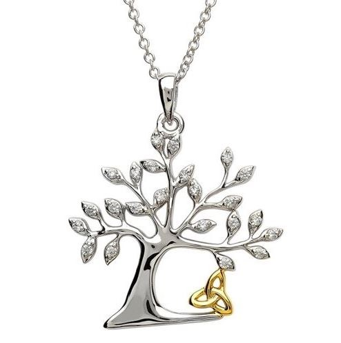 Sterling Silver Tree Of Life Trinity Pendant