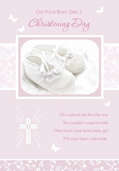 Christening Girl Card