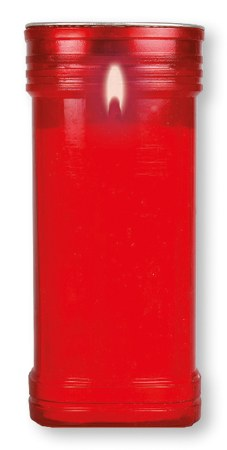 Red Candle Container