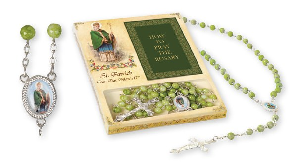 St Patrick Gift Boxed Rosary Beads