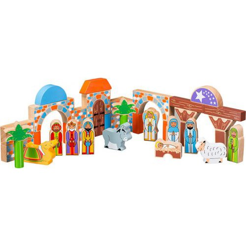 Wooden Building Block Nativity