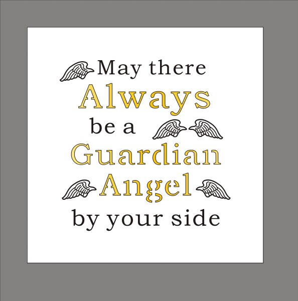 Guardian Angel Light Up Your World Plaque