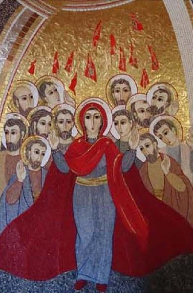 Pentecost Spiroto Santo Mosaic Icon