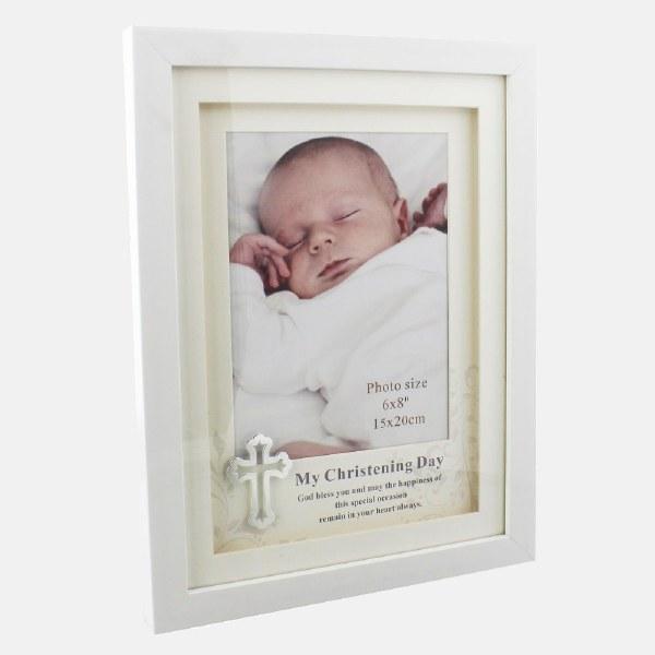 White Christening Photo frame