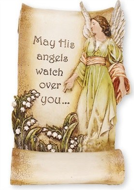 Guardian Angel Resin Grave Statue (28cm)