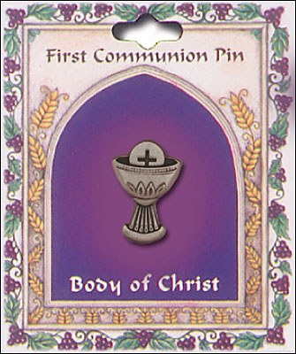 First Holy Communion Chalice Pin on Card