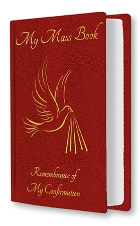 Red Souvenir of Confirmation Mass Book