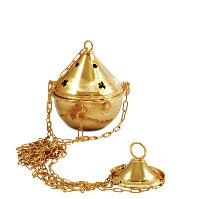 Gold Plated Thurible (15cm x 9cm Diameter)