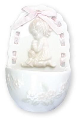 Praying Girl Holy Water Font