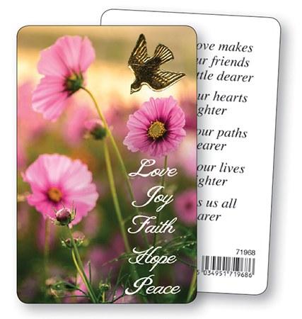 Joy Faith Hope Peace Prayercard