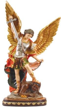 48584 St Michael Fibreglass Statue 80cm