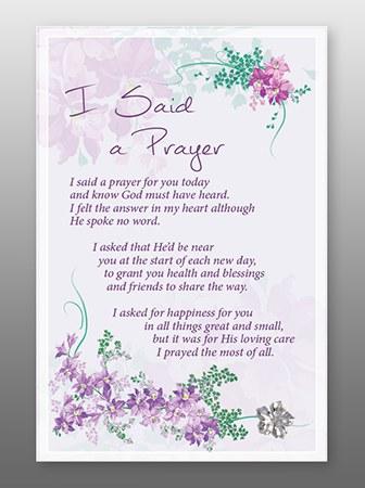 I Said A Prayer Glass Plaque 18 x 13 cm