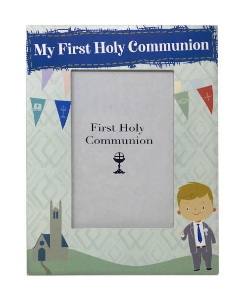 Boy First Holy Communion Photo  Frame