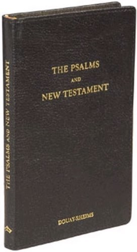 Douay Rheims New Testament & Psalms Black Leather