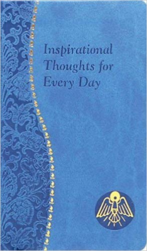 Inspirational Thoughts for Every Day, blue imitati