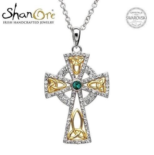 Celtic Cross with Swarovski Crystal Pendant