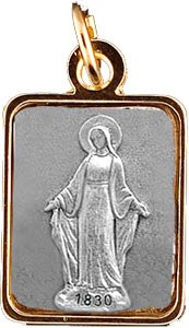 Medal with varnish