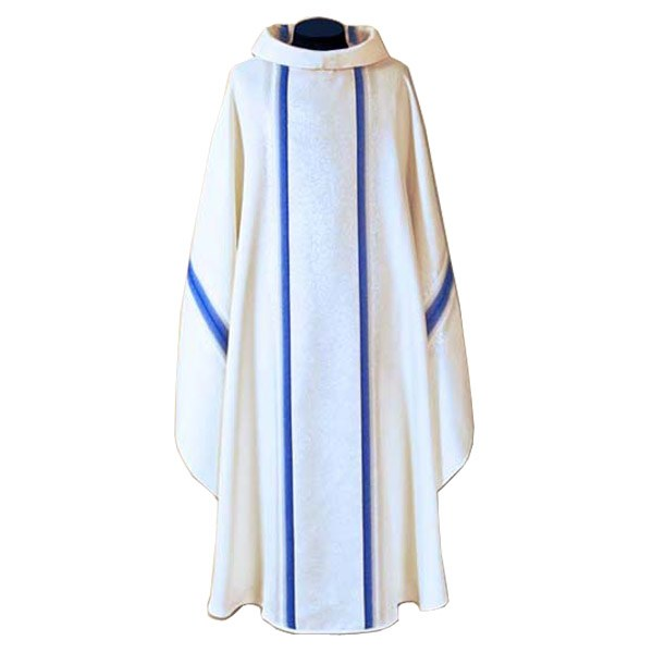 White and Blue Chasuble