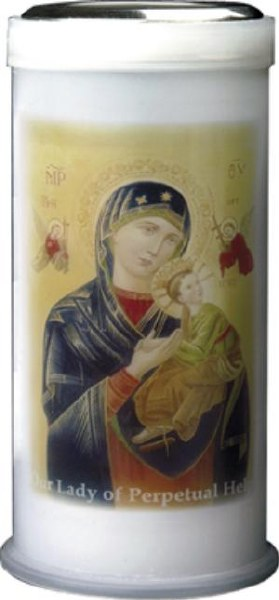 Mary Perpetual Pillar Candle