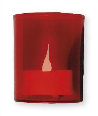 Red Battery Votive Light