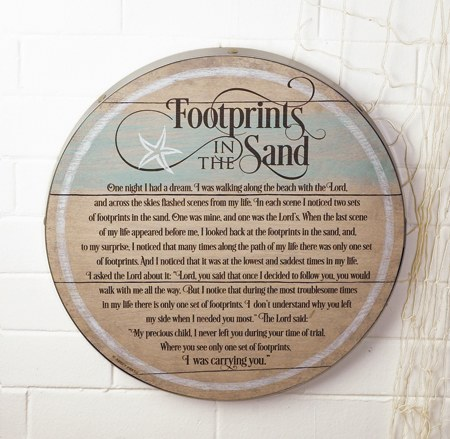 Footprints in the Sand Plaque
