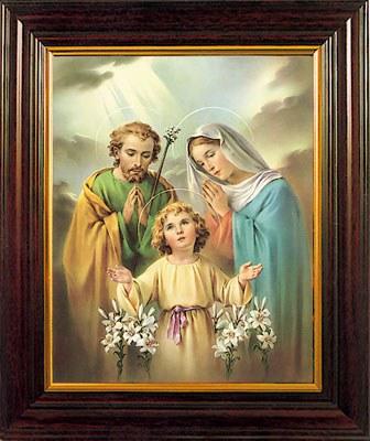 Holy Family Framed Print (30 x 25cm)