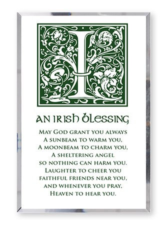 An Irish Blessing Glass Plaque