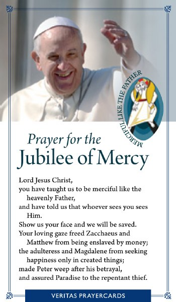 Prayer for Jubilee of Mercy Prayercard