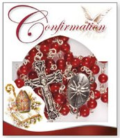 Ruby Confirmation Rosary Beads