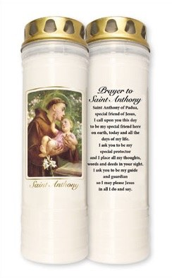 St Anthony 7 Day Pillar Candle