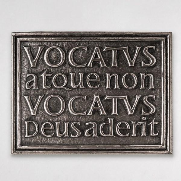 """Bidden or Not Bidden God is Present Plaque """"Vocatus Atque Non Vocatus"""" Irish Made"""