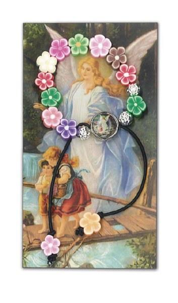 Guardian Angel Flower Bead Bracelet
